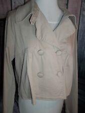 """MAURICES"" DESIGNER Short Jacket Khaki Large Double Button Front Longsleeve"
