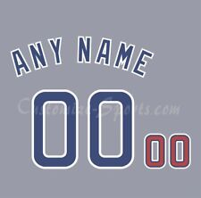 Baseball Chicago Cubs 1990 Road Gray Jersey Customized Number Kit un-stitched