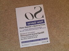 PETER GABRIEL - lovely colour tour flyer (Mint) GENESIS