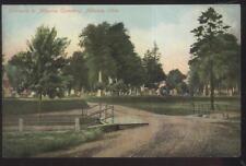 Postcard ALLIANCE Ohio/OH  Local Area Cemetery Entrance view 1907