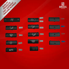 14 PCS Heater Climate Control Switch Button Cover For BMW 5 Series X5 E53 E39