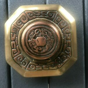 Tiffany Studios Zodiac Crab Bronze Inkwell #842