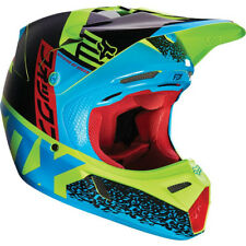 FOX V3 DIVISION MOTOCROSS MX HELMET - BLUE / YELLOW enduro bike mtb bmx MIPS