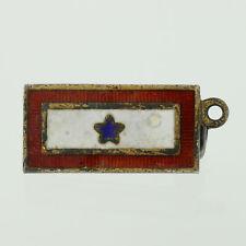 Son In Service Pin - Sterling Silver Enamel Military Vintage Keepsake Honor