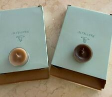 Two Boxes of 12 (24 total) Partylite Tealights Patchouli Scents