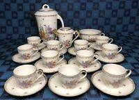 Ancien Service À Café En Porcelaine Fine De Limoges Signé T.H. THÉODORE HAVILAND