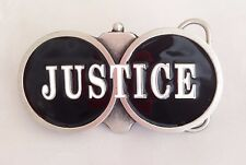 Justice Double Barrel Shotgun Belt Buckle by Tanside RRP - £19.95 High Quality