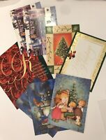 CHRISTMAS GREETING CARDS LOT Of 22 UNUSED ASSORTED VINTAGE  FROM 1980's/ 1990's