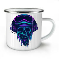 Metal Rock Skull Biker NEW Enamel Tea Mug 10 oz | Wellcoda
