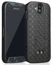 BLACK KICKSTAND SLIM CASE HARD COVER FOR KYOCERA DURAFORCE PRO E6810/E6820/E6830