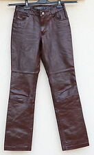 GAP Womens Deep Red Soft Leather Boot Cut Pants Trousers Size 1