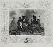 Auguste Raffet (French, 1804–1860) Lithograph Combat de Montereau Napoleon