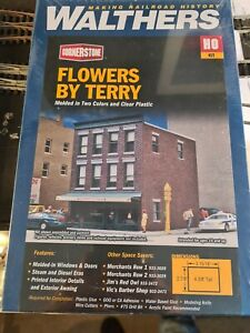 Walthers cornerstone ho 933-3473  Flowers By Terry