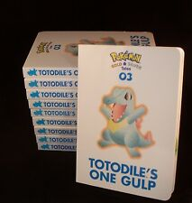 LOT of 10  Pokemon Gold & Silver Tales #03 Board Book TotoDile's One Gulp   NEW