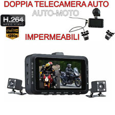 Doppia telecamera spia per auto e moto in sosta microcamera infrarossi
