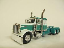 DCP 1/64 SCALE 379 PETERBILT SMALL BUNK WHITE WITH TURQUOISE SEMINOLE STRIPE