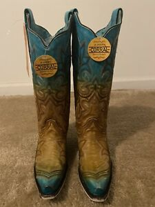 Corral  Women's Turquoise Embroidery A  3784 Western Boots 7