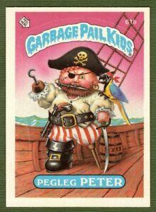 1985 GPK Garbage Pail Kids Series 2 Pegleg Peter 61b Slowpoke Award