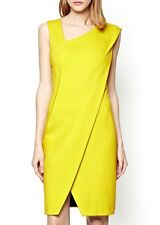 "French Connection Da Donna ""Lula"" GIALLO ACIDO bionda vestito Bodycon * UK 6/FR 34 *"