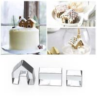 Decor Cookie Cutter Christmas Gingerbread House Biscuit Mold Creative Steel T7E1
