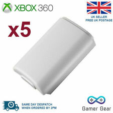 5x Battery Back Cover Case Shell Pack for Xbox 360 Controller - White