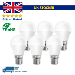 LED Standard GLS Golf Bayonet Light Bulbs, 6, Pack, BC B22 Lamp 4W/5W/6W/7W