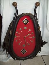 """Antique"" ~ Leather Horse/Mule Collar Clock ~ Vintage Harness Yoke Western Decor"