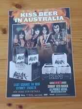 KISS BEER (DESTROYER) 2013 AUSTRALIA Tour - SYDNEY Laminated Tour Poster