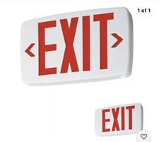 Lithonia Lighting Quantum Led Emergency Exit Sign White With Battery Red Letters