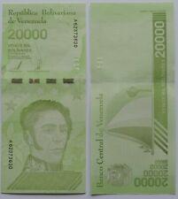 billet de 20000 bolivares du Venezuela de 2019 NEW