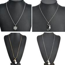 Charm Jewelry Silver Plated Chain Choker Chunky Statement Bib Necklace Pendant