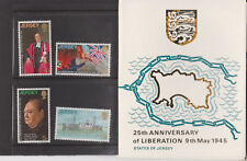JERSEY PRESENTATION PACK 1970 25TH ANNIVERSARY OF LIBERATION STAMPS