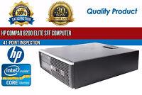 HP Compaq 8200 Elite SFF Intel i5 4 GB RAM 500 GB HDD Win 10 USB B Grade Desktop