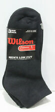 (60908) Wilson Extreme Sports Collection Mens Low Cut, Black, 3 Pair, Men's 6-12