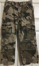 Boys Wrangler Size 6R Khaki Green Brown Camouflage Pants Adjustable Waist