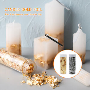 Candle Gold Silver Foil Candle Molds Mold Aromatherapy Mould Making Ornament