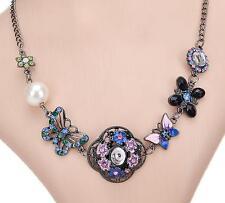 Betsey Johnson Fashion retro butterfly flowers multi-storey lady short necklace