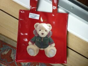 HARRODS 2020 CHRISTMAS BEAR SMALL TOTE BAG 25 x 25 x 12 cm LINED NEW (LAST ONE)