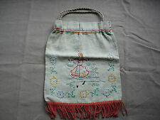#673 Beautiful Vintage Hand Embroidered Bag 36cm/27cm(14''/11'')