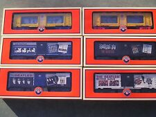 "Beatles""O""Gauge ToyTrains Lionel 6 Car Set 4 BoxCars + 2 Aquarium Cars Beatles"