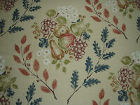 "SANDERSON CURTAIN FABRIC DESIGN ""Pomona"" 5.6 METRES RUSSET AND INDIGO"