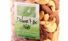 12oz Gourmet Style Bag of Delectable Roasted Salted Deluxe Mixed Nuts [3/4 lb.]