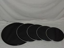 "NEW Black Drum Head Rock Pack 22"" bass, 16"", 13"", 12"" toms 14"" Snare Cheap Price"