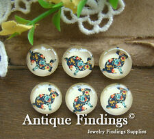 10PCS 12mm Photo Rabbit Handmade Glass Dome Cabochon Cameo Cover Cabs BCH160H