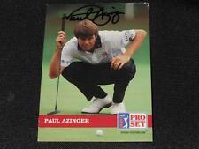 PGA Legend Paul Azinger Signed 1992 Pro Set Autograph Card #47  TOUGH  JB10