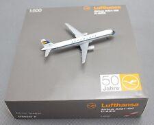 Herpa Lufthansa Airbus A321-100 D-AIRX 50 Jahre 1/500 Diecast Model