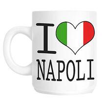 I Love Cuore Napoli Italia Bandiera Tazza Regalo