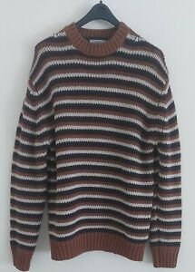Nicole Fahri Men's 100% Pure Wool Jumper Size L Sleeved Thick