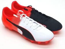 Men's Puma Evospeed 4.5 Tricks FG Cleated Soccer Shoe Black/Red 12 #NGR2N-M388