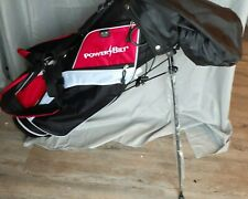 PowerBilt youth Golf Bag with stand rain cover *New* Unused Red White Black